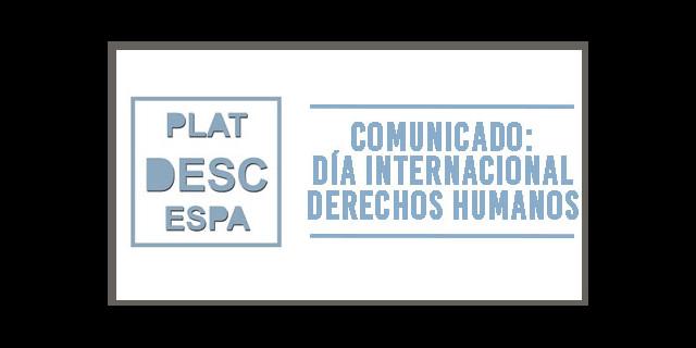 comunicado_platforma_desc Día Internacional Derechos Humanos
